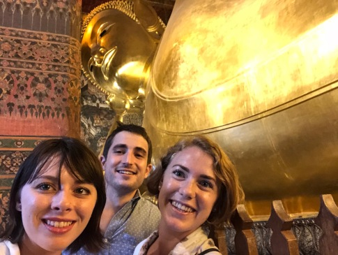 Andrew, Jenn and I at the Temple of the Reclining Buddha
